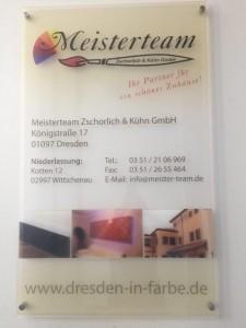 Firmenschild Standort Dresden